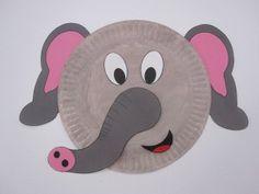 "Elephant Paper Plate Faa ""ف"" feel, elephant, فيل"