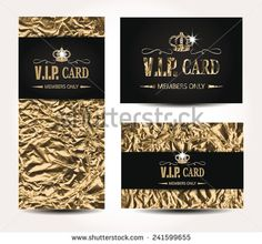 VIP cards with foil background - stock vector Vip Card, Credit Cards, Royalty Free Stock Photos, Design Inspiration, Personalized Items