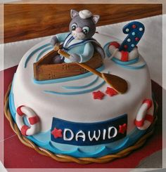 Sailor Cat Cake  Sailor Cat Cake Birthday cake for my nephew.