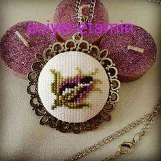 Small Cross Stitch, Butterfly Cross Stitch, Embroidery Jewelry, Embroidery Patterns, Cross Stitch Bookmarks, Bargello, Gemstone Necklace, Cross Stitching, Needlework