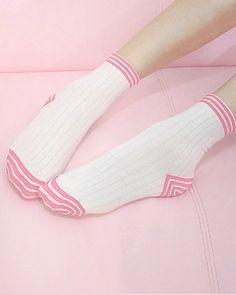 Trippy Stripe Socks http://shop.inu-inu.co/TrippyStripeSocks #kawaii #cute…
