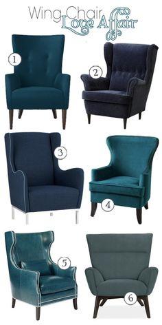 Velvet Wingback Chair - Foter