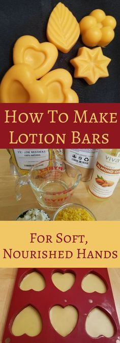 Learn how to make lotion bars with just 3 ingredients!