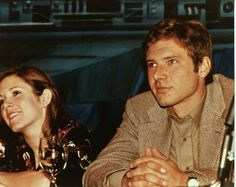 1980-Harrison Ford and Carrie Fisher at an 'Empire Strikes Back' Press Conference