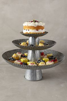 Galvanized Cake Stands - anthropologie.com #anthroregistry