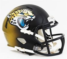 Jacksonville Jaguars Mini Riddell Helmet. The Speed Helmet is the next generation of collectible helmets from Riddell. These minis are half-scale versions of the Speed style helmets that were introduc