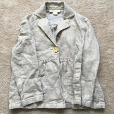 Michael Kors Linen jacket! 100% linen! A must for spring and summer! Size is 4 pretty tan color with a hint of gold  Michael Kors Jackets & Coats Blazers
