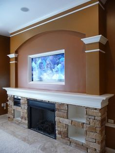 1000 Images About Tv Over The Family Room Fireplace On