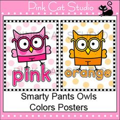 Colors Posters - Smarty Pants Owl Theme - Editable for any language: These fun Smarty Pants owls theme color posters will look fantastic on your classroom wall! This product is also available for a discounted price in my Head Start Classroom, Owl Theme Classroom, Classroom Walls, Future Classroom, Classroom Ideas, Poster Colour, Color Posters, Theme Color, Class Decoration