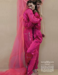 Double Vision Photographer Jackie Nickerson and stylist Robbie Spencer teamed up to create this editorial for the Fall/Winter 2014 issue of Dazed & Confused magazine. Editorial Photography, Fashion Photography, Double Vision, Spencer, Dazed And Confused, Queen, Pretty In Pink, Editorial Fashion, Fashion Show