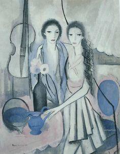 Mujeres Pintoras: Marie Laurencin y la figura femenina - TrianartsTrianarts