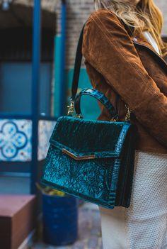85ad6776c9 green velvet handbag from Brahmin Brahmin Bags