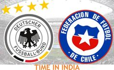 Germany vs Chile match time in India