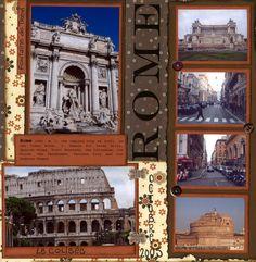 Rome - Italy scrapbook ideas