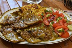 Greek Recipes, Baking Recipes, Steak, Pork, Beef, Cooking, Easy, Baked Food, Cross Stitch