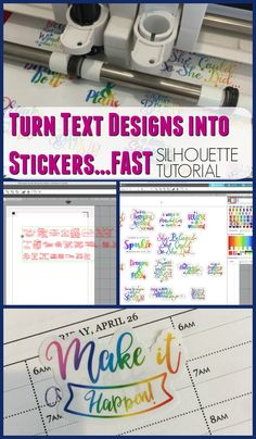 Silhouette Tutorial with lot of tips and tricks! Print then cut magic! How to Turn Text-Based Designs into Stickers with Silhouette (Plus Best Cut Settings) Silhouette America, Silhouette Cameo 4, Silhouette School Blog, Silhouette Cameo Projects, Silhouette Machine, Silhouette Design, Silhouette Files, Print And Cut Silhouette, Silhouette Portrait