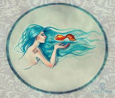 "Pisces:  ""Blowing #Pisces,"" by Clara-arts, at deviantART."