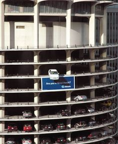 AllState Guerrilla Marketing Car Teeters Off Building in Chicago  | Car photo