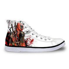 41ee88b4354a Men s Vulcanized Shoes Cool Super Hero Deadpool Sneakers - mens vulcanized  shoes cool super hero deadpool