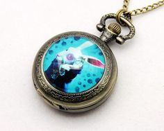 """Items similar to Necklace Pocket watch """"time for alice rabbit"""" on Etsy Pocket Watch, Wedding Decorations, Watches, Trending Outfits, Unique Jewelry, Disney, Handmade Gifts, Inspiration, Accessories"""