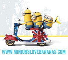 ミニオン ドライブ♪ バナナのイラスト
