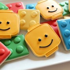 Adorable cookie decorating technique - Lego Cookies! (Photo via SugarBelle's)