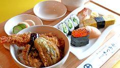 Tendon & sushi.