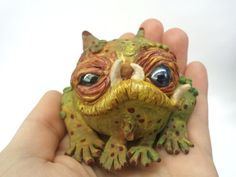 happy monsters polmyer clay | Clay Frog Ornament Toad Swamp Monster by SoUglyitsCuteCrafts