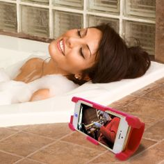 Enjoy your favorite music in the bath. InStage secures your iPhone and amplifies sound 400% acoustically. No power, no set up needed. http://www.amazon.com/datexx