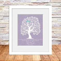 Mother of the Bride Wedding Gift, Brides Parents, Brides Mother, Thank You Wedding Gifts for Mom, Tree Art Print 8 X 10