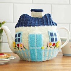 cottage knitted tea cosy by ulster weavers | notonthehighstreet.com