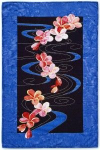 Plumeria Floating on Water Quilt - Sylvia Pippen design