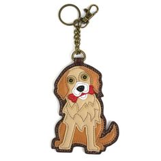Chala Husky Dog Key Fob Key Ring Keychain Vegan Coin Change Purse New