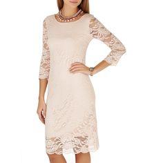 Scolloped Lace Dress Pale Pink