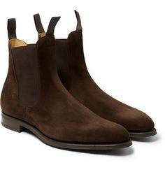 """heinfienbrot: """" Edward Green Newmarket Chelsea boots. """""""