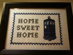 There's no place like time. | 19 Delightfully Geeky Cross Stitches You Wish You Owned