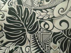 Black and Grey Polynesian Tattoo Fabric, Hawaiian Fabric, Aloha Shirt Material, Tribal Print, Island Fashion, 100% Cotton poplin