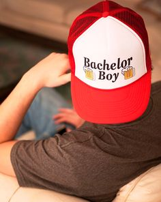 184d5ad61e4 Bachelor Boy Trucker Hat - Gift idea for Bachelor party - This trendy  addition to your