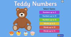 Learning to Count up to 15 with Teddy Numbers Interactive Maths Game Literacy Games, Number Activities, Vocabulary Games, Learning Games, Math Games, Learning Numbers, Math Numbers, Counting Activities, Interactive Activities