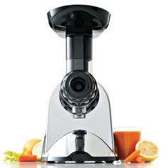 Omega Juicer Extractor and Nutrition Center Creates Fruit Vegetable and Wheatgrass Juice Quiet Motor Slow Masticating Dual-Stage Extraction with Adjustable Settings, Metallic Best Masticating Juicer, High Juice, Fruits And Veggies, Vegetables, Juicer Reviews, Centrifugal Juicer, Cold Press Juicer, Electric Juicer, Specialty Appliances