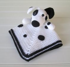 Crochet Dalmation Lovey Security Blanket by SugarandSpiceKate
