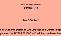 Fonts Used: Apercu #Typewolf Typography Inspiration