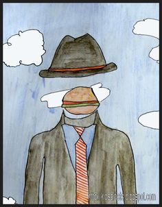 Magritte-- clothing style and favorite food for face