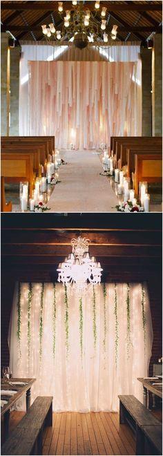 wedding ceremony backdrop with fabric #weddingideas #weddingarches #weddingdecor