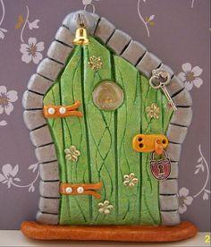 One of my salt dough fairy doors. Please visit www.facebook.com/...