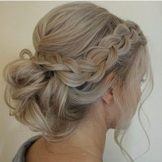 Loose braid and up do - bridesmaid (graded around the face