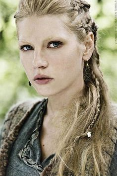 "I love Lagertha's hair in the History Channel show ""Vikings.""  It was the inspiration for my hair yesterday; the result was pretty, with a smidgen of tough."