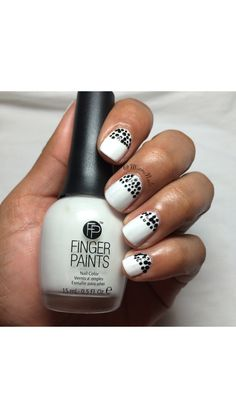 Black and white doticure