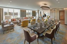 Lighting doesn't make much more of a statement than this!!!!! Penthouse Suite, Mandarin Oriental, Bespoke Design, Design Consultant, Geneva, Modern Luxury, Dining Area, Home Projects, Table Settings