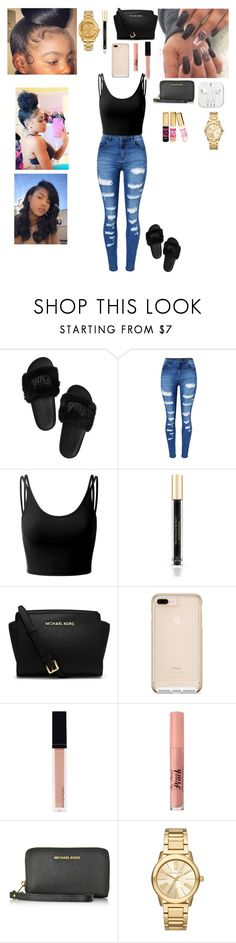 """Let's get litty these summer💜"" by lailabishop ❤ liked on Polyvore featuring WithChic, Doublju, Victoria's Secret, Michael Kors, Witchery, Too Faced Cosmetics, Juicy Couture, summerglow, 2017 and litty"